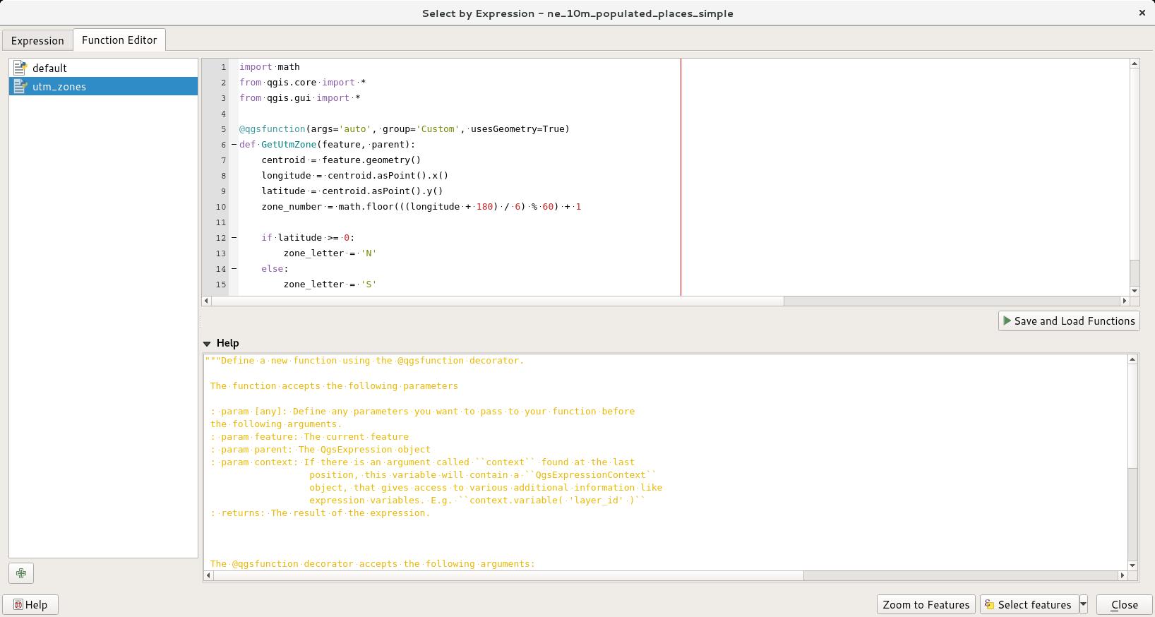 Using Custom Python Expression Functions (QGIS3) — QGIS